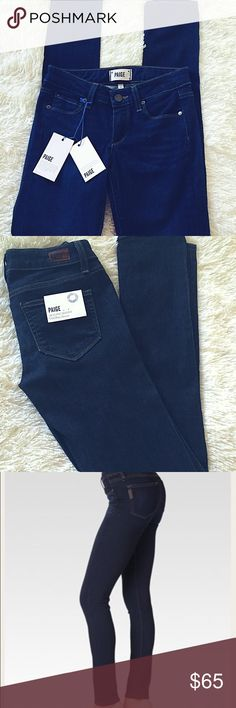 """LABOR DAY SALENWT Paige premium denim jeans!✨ Brand new with tags Paige Skyline Skinnys! Mid rise skinny,Size 23 with 30"""" inseam. Gorgeous,high quality dark rinse jeans,just a little short for me. Everything I sell comes from a smoke free home,and I offer 10% off of 2 bundling Happy Poshing !!!✨ Paige Jeans Pants Skinny"""