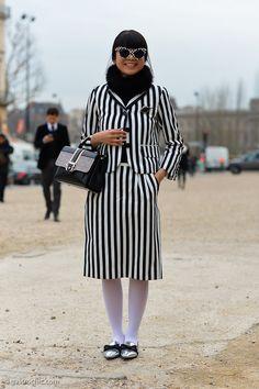 #LeafGreener striping it in Louis Vuitton in Paris.