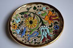 Decoración de la pared Vintage cerámica pintada a mano por Limbhad, €10.00