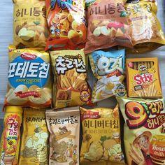 12 Korean Snacks You Must Try - ShopandBox South Korean Food, Korean Street Food, Cute Food, Yummy Food, Healthy Food, Asian Snacks, Snacks Saludables, Korean Dessert, Diy Blog