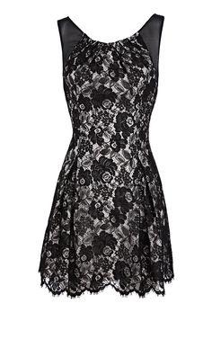 Karen Millen Tailored Lace dress Black [#KMM100] - $90.15 :