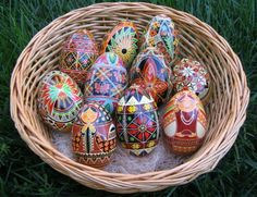 He is Risen.  Happy Easter everyone!  I wonder if my Ukranian relatives used to make these.
