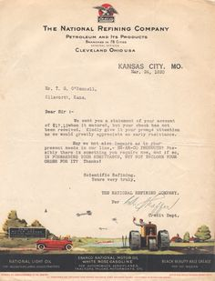 Scanned Image Of Letter On Peer International Corporation