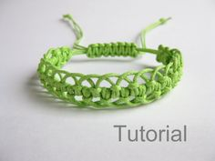 Bracelet pattern macrame tutorial pdf green adjustable clasp jewelry makrame…