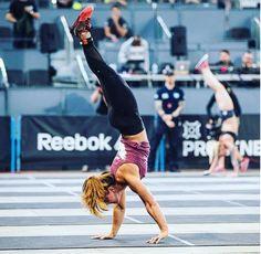 crossfit games athlete jamie greene handstand walk