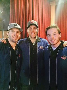 Boone Jenner, Dalton Prout, Marko Dano went boweling with cancer heros. Boone Jenner, Columbus Blue Jackets, Columbus Ohio, Hockey Players, Marry Me, Bowling, Four Square, Beautiful People, Captain Hat