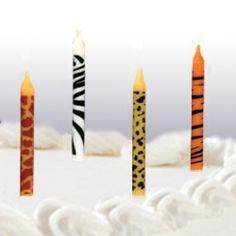Animal Print Birthday Cake Candles (24)