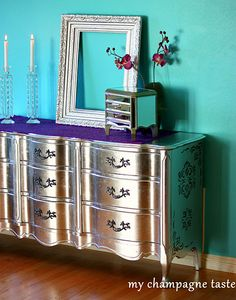 diy metallic furniture. diy silver leaf furniture diy pinterest leaves bedrooms and gold metallic t