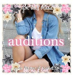 """new auditions / kaitlin & elizabeth"" by faiiry-tippers ❤ liked on Polyvore featuring art"