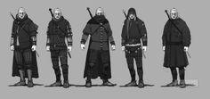 Geralt armor early concept art 2 by Scratcherpen