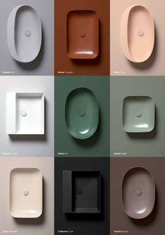 Aufsatzbecken in Spezialkeramik, Linie Elegance Squared in neun Farben - edlesbad.ch