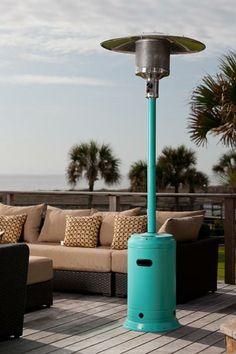 Fire Sense Aqua Blue Powder Coated Patio Heater | $230