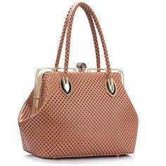 Trendstar Frauen Handtaschen Damen Designer-Taschen Metallrahmen Schultasche Kunstleder