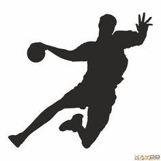 """Wandtattoo """"Handballer"""" Sports Day Poster, Volleyball Inspiration, Concert Stage Design, Handball Players, Drawing Frames, Asian Games, Joker Wallpapers, Team Gb, Netball"""