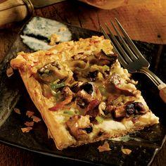 Rustic Mushroom Tart recipe, plus: Vegetarian Wine Pairing - Choosing Wine for Vegetarian Meals - Delish.com Delish!