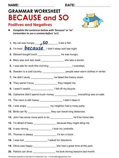 English Grammar 'Because' and 'So' www.allthingsgrammar.com/and-but-so-because.html