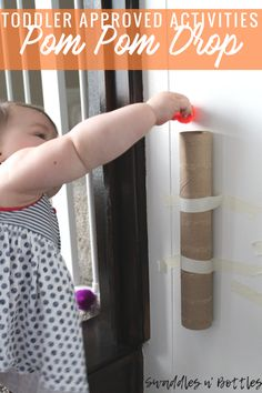 Toddler Approved Activities- Pop-Pom Drop- Indoor activities for 1 year olds and up