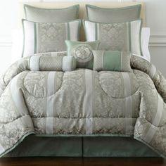 Home Expressions™ Chopin 7-pc. Jacquard Comforter Set & Accessories  found at @JCPenney
