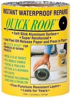 "nice Cofair 6""X24"" Rubber Quick Roof Patch Kit Repair Travel Trailer Camper RV Leaks..."