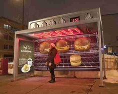 People-Warming Ovens:  Caribou Coffee Bus Shelters Promote 'Hot 'n Wholesome' Menu