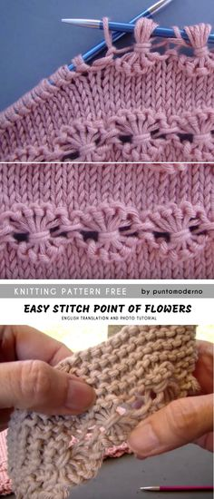 Point of Flowers Knitting Free Pattern and Tutorial This tutorial shows how to make the Point of Flowers. Stunnig flower motif in one row and second, and third above… This project is originally in. Knitting Stiches, Knitting Charts, Easy Knitting, Loom Knitting, Baby Knitting Patterns, Crochet Patterns, Knitting Machine, Flower Motif, Pattern Flower