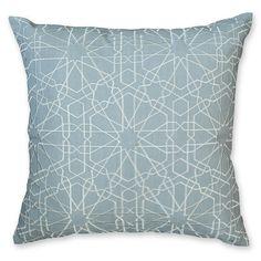 Tile Embroidery Grey Cushion 45x45cm