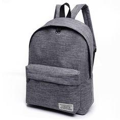 Men s Stylish Canvas Backpack without Pattern for Laptop 65544911d99af