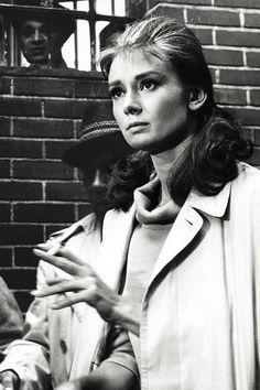 Audrey Hepburn en el rodaje de Desayuno con diamantes (1961)