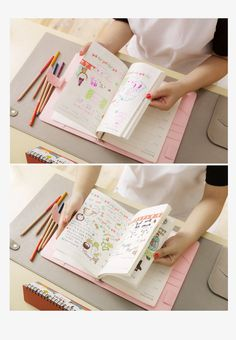 Macaron leather spiral notebook Original office personal diary/week planner/agenda organizer Cute ring stationery binder A5 A6-in Notebooks from Office & School Supplies on Aliexpress.com | Alibaba Group