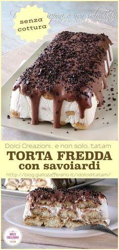 TORTA FREDDA CON SAVOIARDI, pronta in pochi minuti e senza cottura.