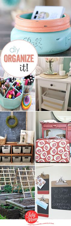 DIY Organization Ideas | I'm Lovin' It {linky party}