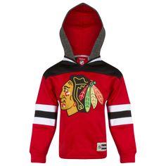 Chicago Blackhawks Kids Red and Black Primary Logo Hoodie by Reebok #Chicago #Blackhawks #ChicagoBlackhawks
