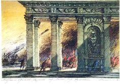 О. А. Шейнцис «Встречи наСретенке» В.Кондратьева. Эскиз декорации. 1985…