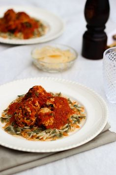 An easy family meal, chicken meatballs can be made quickly using healthy, fresh ingredients.