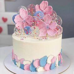 Pretty Cakes, Cute Cakes, Beautiful Cakes, 2 Tier Birthday Cakes, Birthday Cake Girls, Amazing Wedding Cakes, Amazing Cakes, Fondant Cakes, Cupcake Cakes