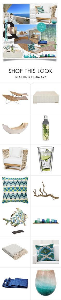 """LOOKING THE HORIZON"" by gustosa ❤ liked on Polyvore featuring interior, interiors, interior design, home, home decor, interior decorating, MARBELLA, Janus et Cie, Arteriors and Bodum"