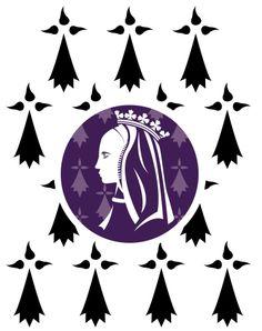 Le Comité Anne de Bretagne 2014 propose une bannière d' Anne de Bretagne pour 2014. Réalisée par Mikael Bodlore-Penlaez de l'association vexillologique Bannieloù Breizh.