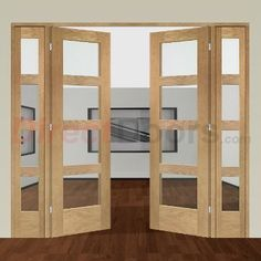 Image of Easi-Frame Oak Door Set, GOSHA4L-COEOP3-838, 2005mm Height, 2364mm Wide.