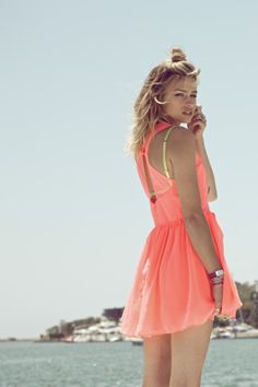 the coral summer dress