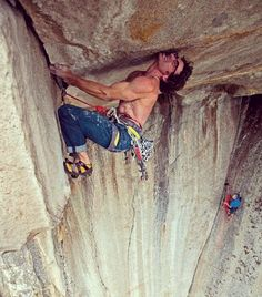 Cedar on his route The Gravity Ceiling (5.13a) a 30-foot roof on Higher Cathedral Rock in Yosemite California  Published on: climbing.com  #adrenaline #adventure #climbing #climb #rock #mountain #mount #cedar  #yosemite #yosemitenationalpark #california
