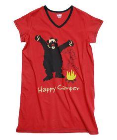 3b44e1a2e0 Lazy One Red Happy Camper Nightshirt - Women