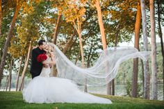 """Red romance curtesy of our heavenly Bride Jenny, her Lauren Elaine """"Wisteria"""" gown!"""