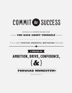 Commit to success! #success