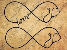 Stethoscope Infinity SVG Stethoscope Love png, dxf, eps Cut file for Silhouette and Cricut SVG Rn Tattoo, Get A Tattoo, Wrist Tattoo, Tattoo Quotes, Body Art Tattoos, New Tattoos, Tatoos, Love Png, Symbolic Tattoos