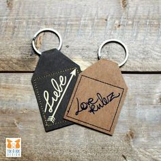 Keyring made of SnapPap - Ms. Scheiner This manual uses the example of pretty key rings to explain the settings your plotter can use to cu Diy And Crafts, Paper Crafts, Cricut, Close To My Heart, Key Rings, Sewing Projects, Personalized Items, Pretty, Gifts