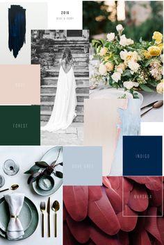 Hochzeitstrends 2016 Moodboard Marsala Indigo Dove Grey Forest Nude Hochzeitsdekoration Hochzeit Event Design