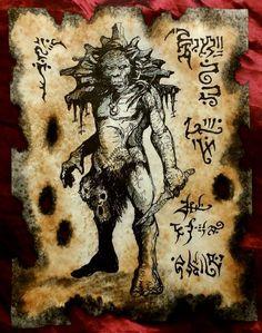 DWELLER IN DARKNESS cthulhu larp Necronomicon Fragment by zarono, $10.00
