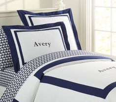 Upstairs bedroom- Navy Classic Duvet Cover | Pottery Barn Kids