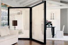 wandschirm raumteiler in schwarz-weiß für moderne wohnzimmer raumtrennung