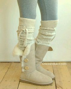 Cute leg warmers for boots!